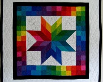 Rainbow Star wall hanging