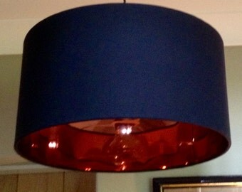 Noir Copper Lined Mirror Lampshade LARGE