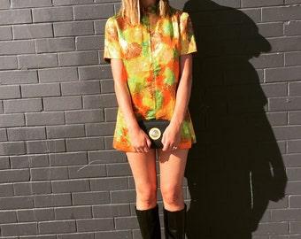 60's Mod Lurex Dress