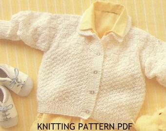 Knitting Pattern baby Cardigan toddler jacket PDF Instant Download Nr.97