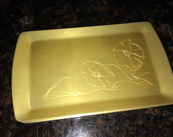Four Vintage Neocraft by Everlast Aluminum  Tray Hor d'oeuvres / Candy Dishes Mid Century Modern Piece