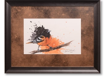 Oriole Watercolor Painting