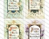 Easter Images #4 - Printable Digital Collage Sheets 5-Pack - Instant JPEG Downloads