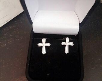 Swarovski Elements Cross Stud Earrings
