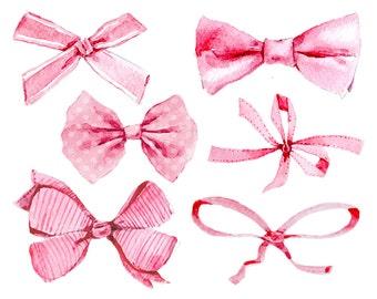 Ribbon bow clipart | Etsy