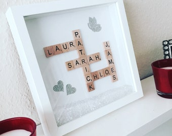 Personalised Frame - Loved Ones Silver Effect 2