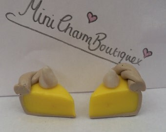Lemon Meringue Pie Polymer Clay Charm