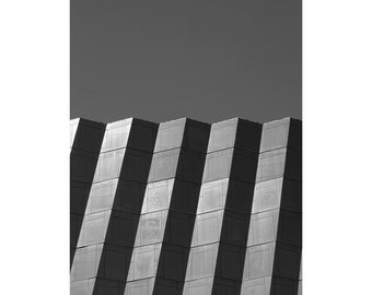 Peaks - Fine Art Photography, Black and White Print, Architecture, Abstract, Shadow, Geometric, 16x20, Custom Sizes
