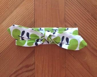 Top Knot Baby Headband (Green Apples)