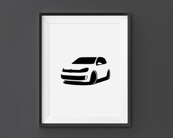Volkswagen Golf, VW Golf Wall Art, VW Print, VW, Golf, Home Decor, Digital  Download, Black and White, Scandinavian Art