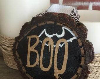 Boo Reclaimed Oak Wood Wall Hanging