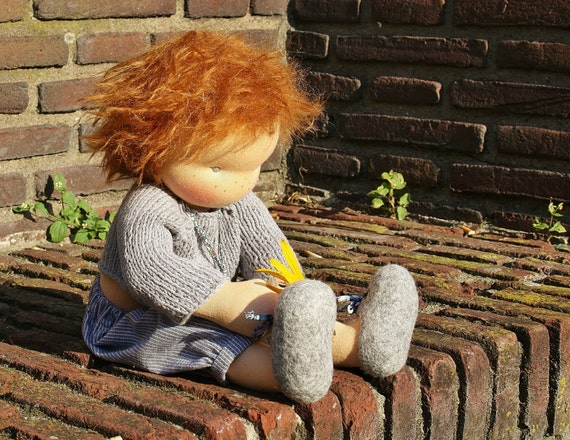 17 Classic Waldorf Boy Doll With Red Hair His Name