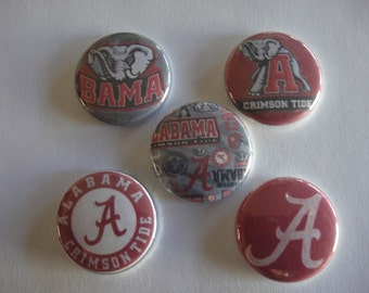 Alabama Crimson Tide Buttons Set of 15 - 3 of each