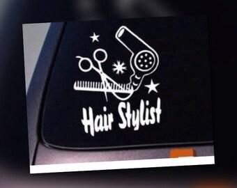 Hairstylist- haristylist bumper sticker -  hairstylist car decal - die cut hairstylist sticker