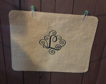 Personalized Burlap Placemats