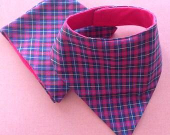 Tartan neckerchief bib