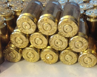 60 Spent Brass 357 Caliber Shell Casings