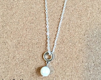 Gorgeous Pearl Charm Necklace