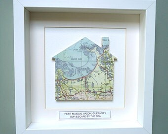 Personalised Home Map Picture, New Home Gift,