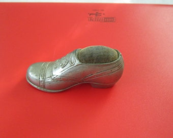 1930s Silver Oxford Shoe Pincushion