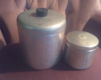 Vintage canisters flour and grease