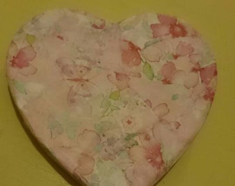 Decoupage shabby chic refrigerator magnet.