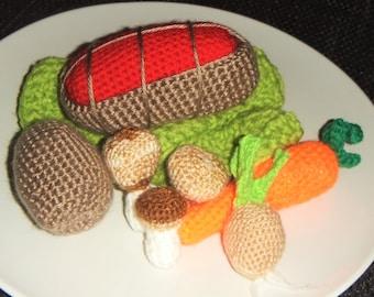 Self-crochet Roast with vegetables