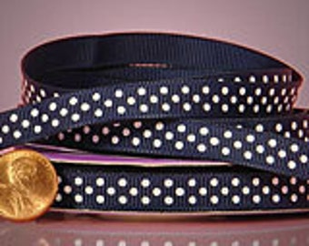 "Polka Dot Grosgrain Ribbon 3/8"" 25 yards"
