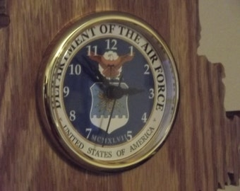 Handcrafted Maine State U.S. Air Force Clock Made in Maine