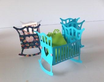 6  handmade cribs with blanket