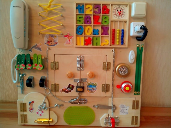 Autism Toy Store : Busy board sensory toddler autism child