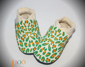 """Ecofriendly """"My Little Leo"""" Soft sole Baby Shoes"""