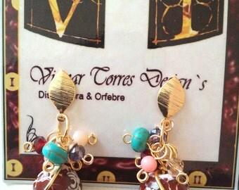 Fashion brown agatas earrings