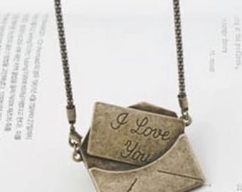 I Love You Mail Necklace.