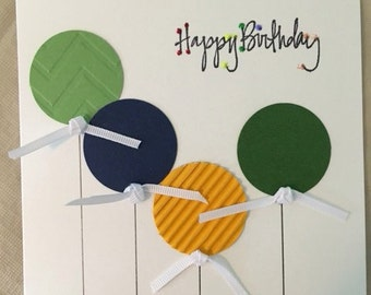 Handmade Greeting Card- Happy Birthday Celebrate your Special Day with Balloons