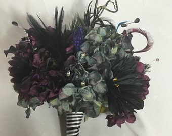 Tim Burton inspired nightmare before christmas bouquet