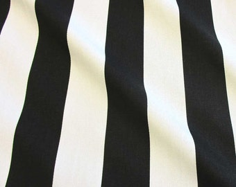 cotton fabric block stripes canadien stripesblack and white 5cm from France