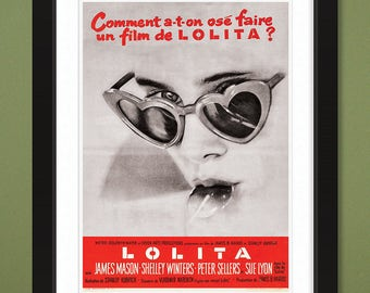 Lolita (1962) French Movie Poster – 12x16 Heavyweight Art Print