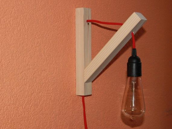 Wall wooden lamp minimalist wall sconce edison lamp pendant