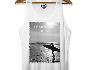 Bundoran Beach Ireland Vest Surf Mens Singlet Sleeveless Tank Famous Surfing PP118
