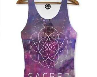 Empire State Sacred Geometry Vest Space Galaxy Singlet Tank Top Triangle PP165