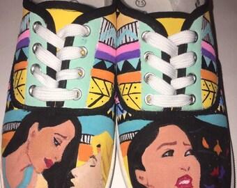 Pocahontas Handpainted Shoes