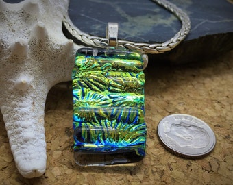 Dirchroic Glass Fused Glass Pendant