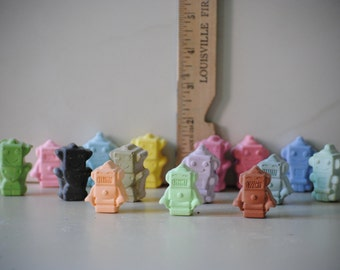 Little robots sidewalk chalk party favors gifts set of 15 pieces