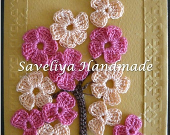 Greeting Cards, Birthday Cards, Appliques, Paper, Cotton, Present, Gift, Crochet, Knit, Card, Flowers, Birthday, Under 5