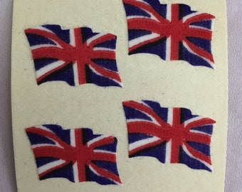 Vintage Fuzzy  British Flags