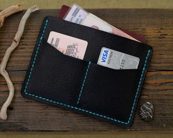Personalized Leather Money Clip Wallet 011