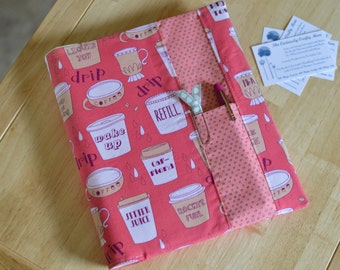 READY TO SHIP Day Planner Cover -Coffee Lovers Special