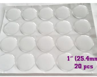 20 PCS Epoxy Dots, 2mm thick High Quality Clear Epoxy Sticker for Bottle Caps & Pendants, 1 inch Epoxy Seal for Bottlecaps (EC-003)