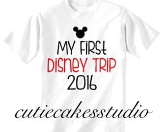 Disney shirt mickey minnie mouse Disney Boy Baby Toddler my first trip disney world onsie